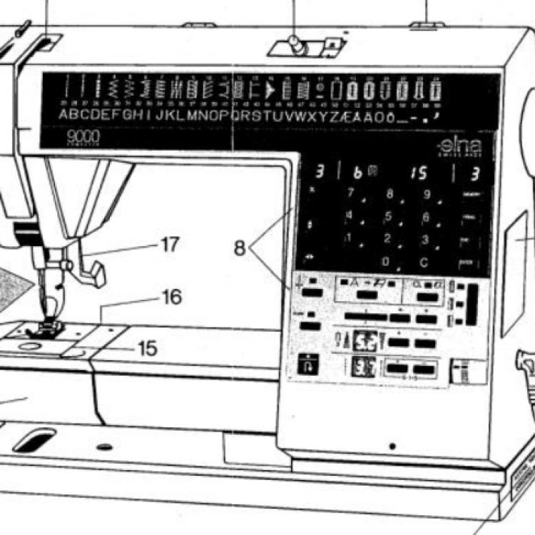 Sewingmachine Elna 40 Computer Extraordinary Elna 9000 Sewing Machine